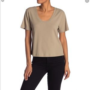 Abound Tan Timber scoop neck ribbed tshirt